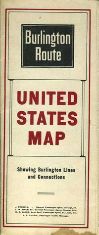 image of Burlington Route, United States Map
