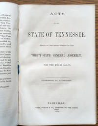 Acts of the State of Tennessee, Passed by the Second Session of the Thirty-Sixth General Assembly...