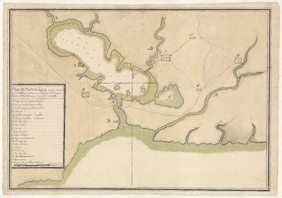 Plano del Puerto de Jaqua cituado en...