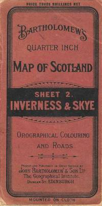 Bartholomew's Revised Quarter Inch Map of Scotland.  Sheet 2.  Inverness & Skye.  Orographical Colouring and Roads