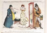 Rupture entre Lord donnant et Miss prend, danseuse du Theatre de Londres [Caricature]
