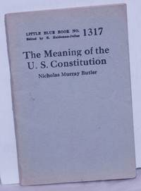 image of The Meaning of the U.S. Constitution