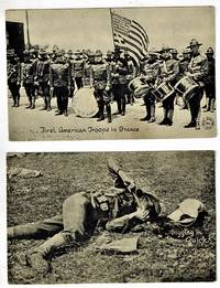 (Real Photo postcards) Two World War I  Postcards - First American Troops in France and Digging in Quick