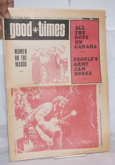 San Francisco: Good Times Commune, 1970. Newspaper. 24p., folded tabloid underground newspaper, news...