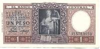 image of Argentina 1 Peso (Pick # 260) Commemorative Bank Note - VF+