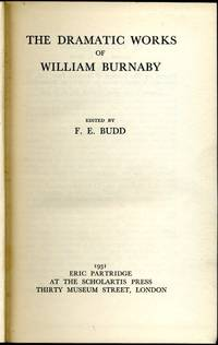 image of The Dramatic Works of William Burnaby (limited edition)