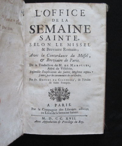 Paris La Compagnie des Libraries, 1717. 8vo. (7 3/4 x 5 1/4 inches) full burgundy morocco with doubl...