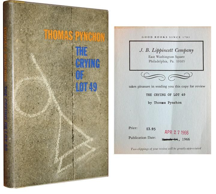 an analysis of the novel the crying of lot 49 The crying of lot 49 user review - jane doe - kirkus whether you were with it or not, pynchon's first novel v had some prodigally exciting sequences to startle the most phlegmatic.