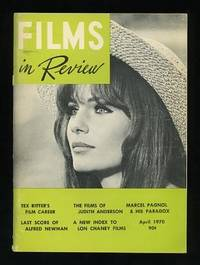 New York: National Board of Review of Motion Pictures. Very Good+. 1970. (Vol. XXI, No. 4). Periodic...