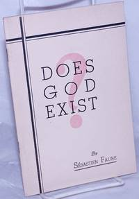 image of Does god exist? Twelve proofs of the inexistence of God as presented in a lecture. English version by Aurora Alleva and D.S. Menico