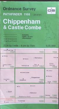 1:25,000 sheet ST 87/97 (Chippenham & Castle Combe) by Ordnance Survey - Pathfinder series sheet 1168 - f 1995 - from Acanthophyllum Books and Biblio.com