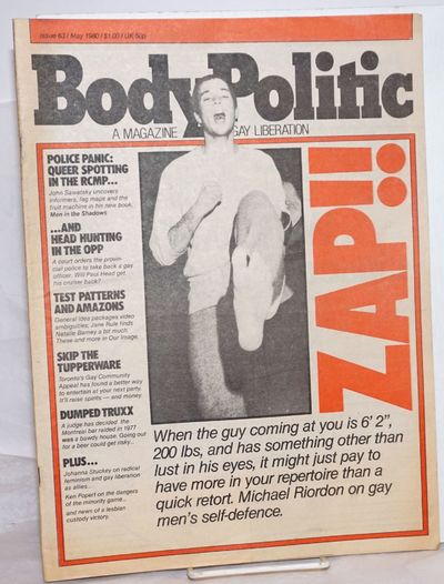 Toronto: The Body Politic Collective/Pink Triangle Press, 1980. Newspaper. 44p., tabloid newspaper i...