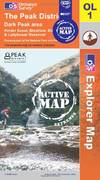 image of The Peak District - Dark Peak Area (OS Explorer Map Active)