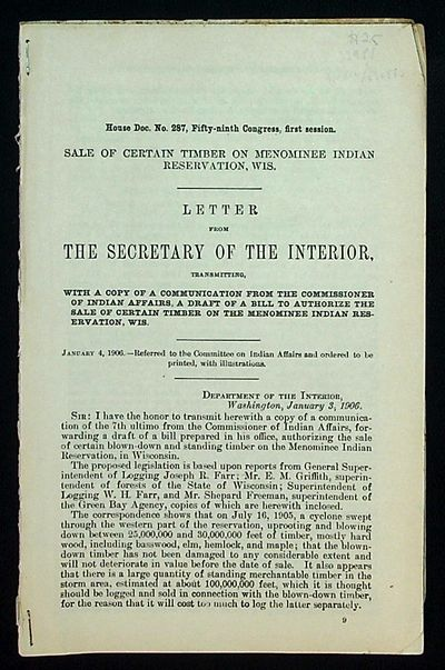 Washington DC: Congress, 1906. Paperback. Very Good. Paperback. Reprints of a collection of letters ...