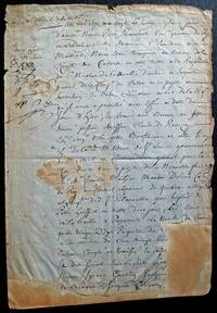 With the fur trade in crisis, La Compagnie du Castor shows signs of panic.  Manuscript document, signed.