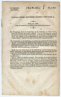 [drop-title] Judicial terms—Southern District, New York, &c. April 12, 1830. Read, and committed to a committee of the whole House to-morrow.