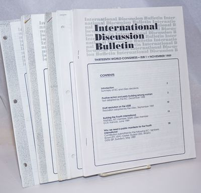 Seven issues of the International Discussion Bulletin, a complete run for the period between Novermb...