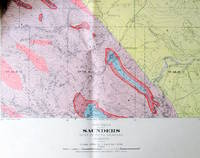 Fold-Out Geological Survey Map in Colour. Map 885a Saunders Alberta West of Fifth Meridian
