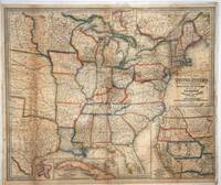 A New Map of the United States upon which are delineated the vast works of International communication, Routes Across the Continent, &c. showing also Canada and the Island of Cuba