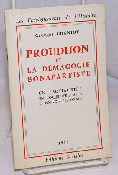Paris: Editions Sociales, 1958. 45p., stapled wraps, 4.5 x 7 inches, wraps lightly worn, pages light...
