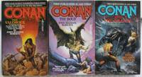"Adventures of Conan (John Maddox Roberts series):  Conan The Valorous; Conan the Bold; Conan and The Amazon  -(3 soft covers in the ""Conan"" series by John Maddox Roberts)-"