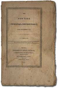 New York: Gould and Banks, 1818. Softcover. Very Good. First edition. Stitched printed wrappers. Unt...