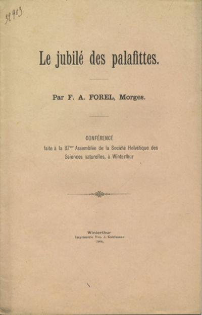 Winterthur, Switzerland: Imprimerie Vve. J. Kaufmann, 1904. First edition. Paper wrappers. A very go...
