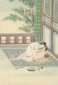 (Chinese Paintings)- 19th-Century Album of Chinese Erotic Watercolor Paintings