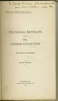 image of Polynesian Artifacts: The Oldman Collection  Illustrated and Described