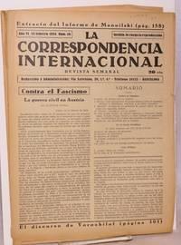 image of La correspondencia internacional; revista semanal, año VI, num.10, 23 febrero 1934
