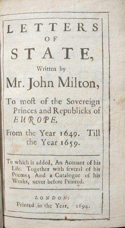 Letters of State, written by Mr. John...