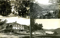Nine Real-Photo Postcards with Scenes from Rochester, Vermont