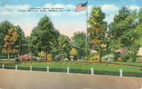 Parkside Drive Entrance, Laura Bradley Park, Peoria, Illinois 1941 used Postcard