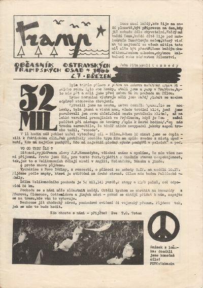 : Tramp-MěV ČSM, 1966. Quartos (29.5 × 21 cm). Original duplicated (xeroxed?) typescript and illu...