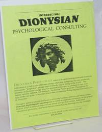 image of Introducing Dionysian Psychological Consulting [handbill]
