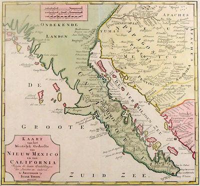 Abaa Karte Van Het Westelyk Gedeelte Van Nieuw Mexico En Van
