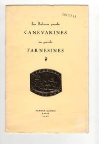 Les reliures pseudo-canevarines ou pseudo-farnèsines by  Arthur Lauria  - Paperback  - 1963  - from Leopolis (SKU: 005223)