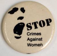 image of Stop crimes against women [pinback button]