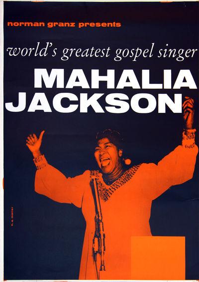 MAHALIA JACKSON (ca. 1960) German...