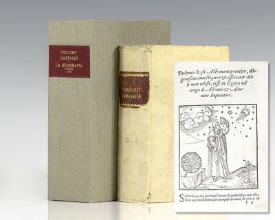 Venice: G. B. Pedrezano, 1547. First complete edition in Italian of Ptolemy's