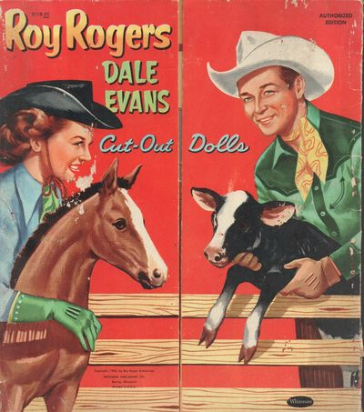 Racine, Wisconsin: Whitman Publishing Company. Very Good. 1953. A set of Roy Rogers and Dale Evans c...
