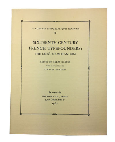 Paris: Privately Printed for Andre Jammes, 1967. Paperback. Fine. folding frontis, illustrations, in...