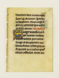 FROM A MINIATURE PSALTER-HOURS IN LATIN by  OFFERED INDIVIDUALLY ILLUMINATED VELLUM MANUSCRIPT LEAVES - second half of 13th century - from Phillip J. Pirages Fine Books and Medieval Manuscripts (SKU: ST15198kA)