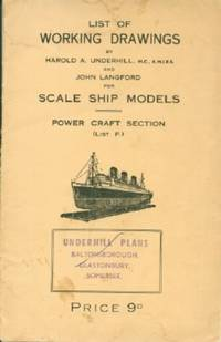 List of Working Drawings For Scale Ship Models: Power Craft Section (List P.)