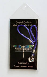 Dragonfly Bookmark, by Cynthia Gale (Artmarks for the Passionate Reader).  Made with Abalone. ISBN # 9781616836382