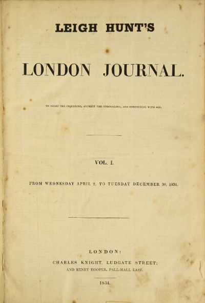 London: Charles Knight, 1834. Folio, pp. iv, 316, lxxii; old marbled boards, edged and effectively r...