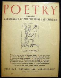Poetry (London) A Bi-Monthly of Modern Verse and Criticism Vo. I. No. 3 November, 1940