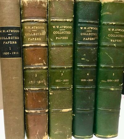 1937. Hardcover. Very good. Quartos. 5 volumes of 134 collected writings with typed table of content...