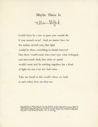 Maybe There Is, Rook Press Broadside, signed by the author, 1/100