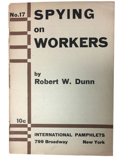New York: International Pamphlets, 1932. Paperback. Good. 31p. Softcover in original wrapper. 19 cm....